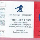 1985 Detroit Tigers Mark Dunberger Pitch Hit & Run Pocket Schedule Unfolded Mint Rarely Seen