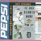 2007 Erie Sea Wolves Pepsi Justin Verlander Pocket Schedule