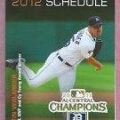 2012 Detroit Tigers Miller Lite Justin Verlander Pocket Schedule