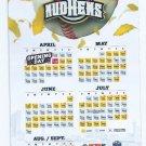 2013 Toledo Mudhens Magnet Schedule SGA Detroit Tigers AAA ABC Warehouse