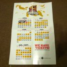 2013 Toledo Mudhens Poster Schedule Detroit Tigers AAA