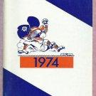 1974 Detroit Tigers Press Radio TV Press Guide