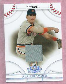 2008 Donruss Threads Alan Trammell Jersey Card Detroit Tigers # 26 #D 2/250