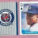 Lou Whitaker US Playing Card Detroit Tigers Oddball 9 Spades