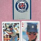Pair 1992 US Playing Cards Travis Fryman Detroit Tigers Oddball