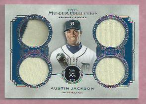 2013 Topps Museum Collection Austin Jackson Quad Jersey Detroit Tigers # PPQR-AJ / 99