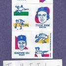 1986 Topps Baseball Tattoos Lou Whitaker Complete Sheet  Detroit Tigers Oddball