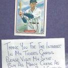 1983 Donruss Hall Of Fame Heroes Charlie Gehringer Detroit Tigers # 28