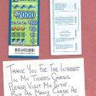 Oddball Detroit Lions Michigan Lottery Bingo Pull Tab Non Winner