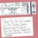 2013 Detroit Tigers Phantom World Series Ticket Game 2