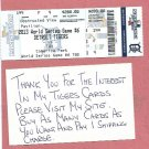2013 Detroit Tigers Phantom World Series Ticket Game 6