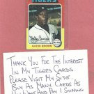 1975 Topps Mini Gates Brown Detroit Tigers #371