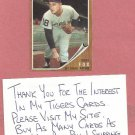 1962 Topps Terry Fox Detroit Tigers # 196