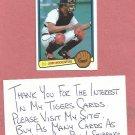 1983 Donruss John Wockenfuss Detroit Tigers # 76