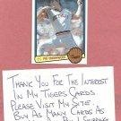 1983 Donruss Pat Underwood Detroit Tigers # 29