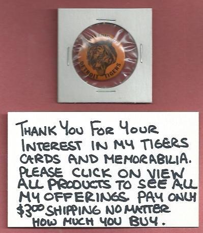 1950s Detroit Tigers Souvenir Pin