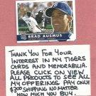 2001 Fleer Tradition Brad Ausmus Detroit Tigers # 334