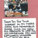 2000 Topps Stadium Club Brad Ausmus Detroit Tigers # 199