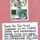 1983 Topps Lance Parrish Detroit Tigers # 285