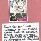 1981 Topps Lance Parrish Detroit Tigers # 392