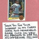 1983 Donruss Lance Parrish Detroit Tigers # 407