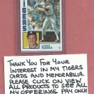 1984 Topps Lance Parrish Detroit Tigers # 640 World Series