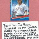 1991 Donruss Dave Bergman Detroit Tigers # 342