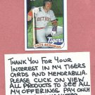1989 Topps Dave Bergman Detroit Tigers # 631