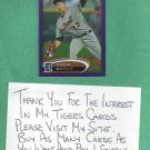 2012 Topps Chrome Purple Refractor Drew Smyly Detroit Tigers Rookie # 191