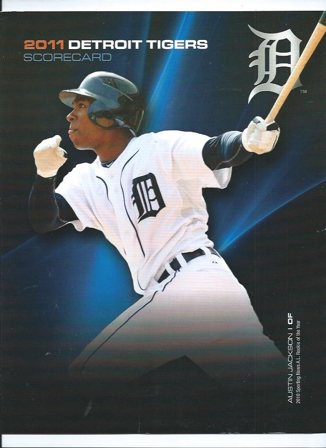 2011 Detroit Tigers Scorecard Austin Jackson