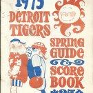 1973 Detroit Tigers Spring Training Guide & Scorebook + Bonus