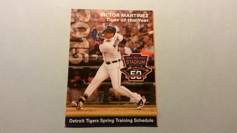2015 Detroit Tigers Spring Training Pocket Schedule Victor Martinez