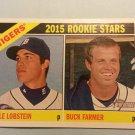 2015 Topps Heritage Stars Kyle Lobstein Buck Farmer Detroit Tigers Rookie # 209