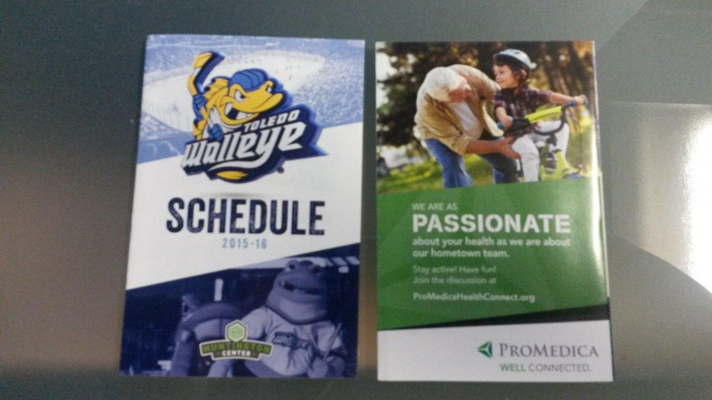 2015 Toledo Walleye Hockey Pocket Schedule