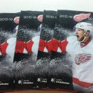 2015 2016 Detroit Red Wings Pocket Schedule Justin Abdelkader