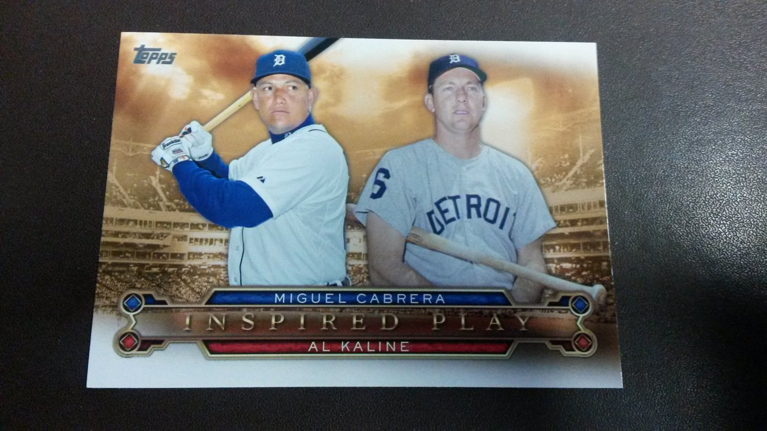 2015 Topps Inspired Play Al Kaline Miguel Cabrera Detroit Tigers # I-4