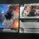 2015 Panini Prizm Refractor Steven Moya Detroit Tigers Rookie # 196