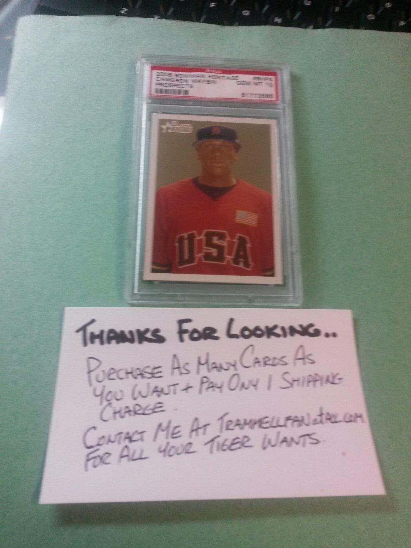 2006 Bowman Heritage Prospects Cameron Maybin Detroit Tigers Rookie PSA 10 BHP4
