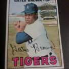 2016 1967 Topps Heritage Buyback Gates Brown # 134 Detroit Tigers
