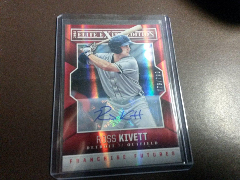 2014 Elite Extra Franchise Futures Auto /799 Ross Kivett Detroit Tigers Rookie