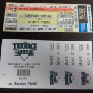 5-17-2000 Detroit Tigers V Cleveland Indians Ticket With Bonus Jacobs Field