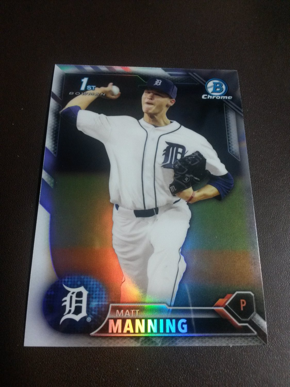 2016 Bowman Chrome Draft Prospects Refractor Matt Manning Detroit Tigers Rookie #BDC-30
