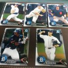 2016 Bowman Chrome Draft Detroit Tigers Team Set Manning Funkhouser Stewart Rookies