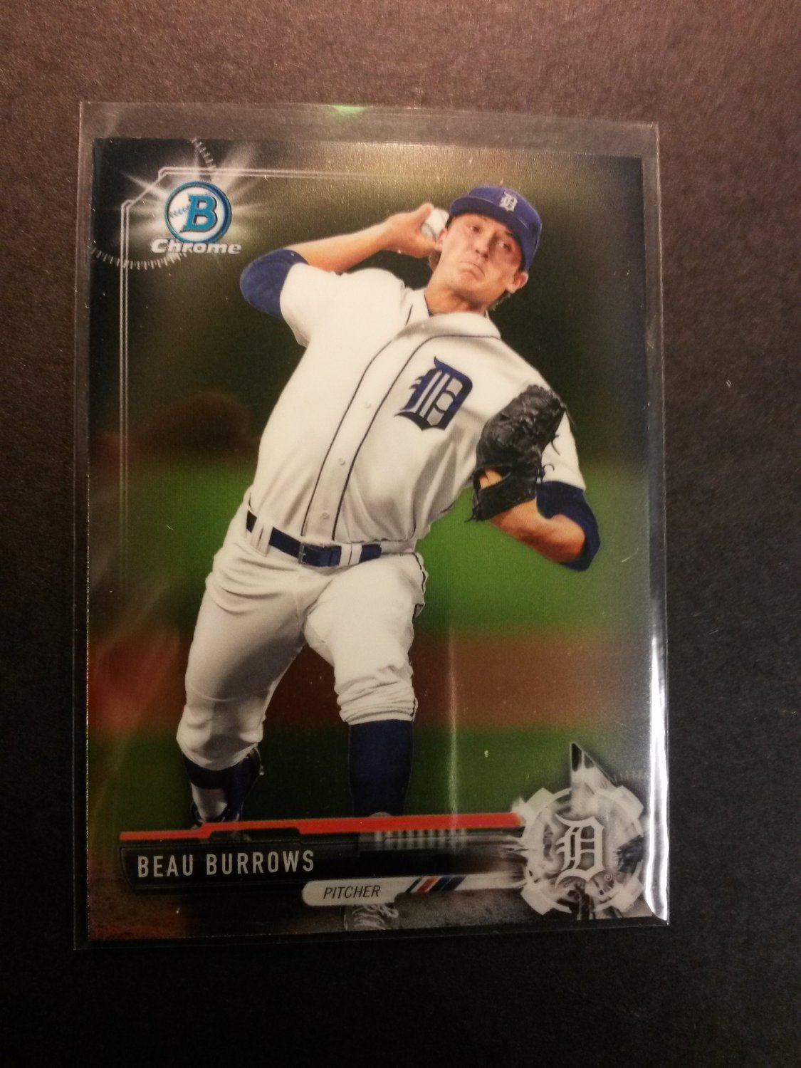 2017 Bowman Chrome Beau Burrows Detroit Tigers # BCP9