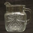 Anchor Hocking Glass Early American Prescut 40oz Square Jug