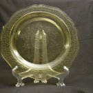 Federal Glass Patrician Amber Dinner Plate