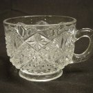 EAPG Bryce Higbee Glass 1905 Twin Teardrops Cup