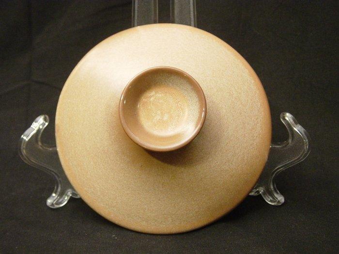 Frankoma Pottery Westwind Peach Glow 1.5 Quart Baker Lid
