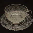 Federal Glass Heritage Crystal Cup and Saucer