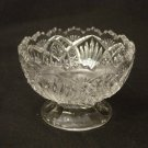 EAPG Bryce Higbee Glass 1905 Arrowhead in Oval Footed Sherbet